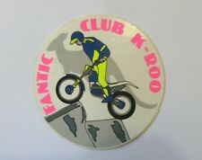 VECCHIO ADESIVO MOTO / Old Sticker FANTIC MOTOR CLUB K-ROO (cm 9)