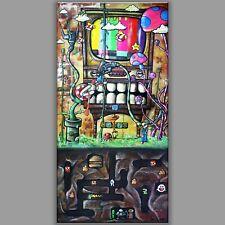 7x14 OLD SKOOL, nintendo painting art graffiti street super mario brothers game