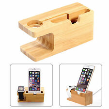 Bamboo Wood Charging Dock Station Holder Stand For Apple Watch and iPhone 7 8 X