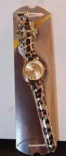 Details Quartz Base Metal Bezel Singapore Movt Leopard Design WristWatch Watch