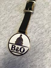 Vintage Pocket Watch Fob, Railroad, B&O, NEW Strap