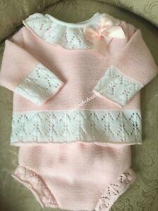 baby girls knit set shorts & top 9-12 months Spanish romany Pex