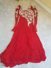 red indian maxi dress
