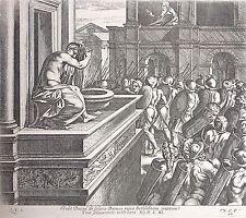 Gravure de Chaperon d'après Raphaël, Bethsabée et David