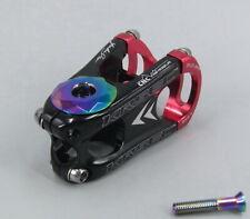 KRSEC Aluminum Stems MTB road Bike Flat Short Stem & Top cap Red 28.6*31.8*50mm