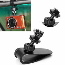 Car Sun Visor Clip Mount Holder Stand Bracket +Nut Adapter For Sports Camera GPS