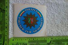 Alter Aufkleber POLIZEI Partner für Sicherheit