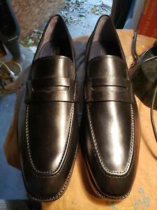 Cole Haan Men's Warner Grand. 360 Penny Loafer Black Leather Style C29037 sz 13M