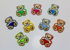 9pcs Teddy Bear pattern Embroidery Iron Sewn On Patches Motif Appliqué Kids Gift