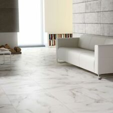 White Carrara Marble Effect Large Porcelain Floor Tiles Sample