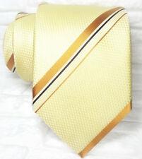 Cravatta regimental crema  Nuova seta 100% Made in Italy Morgana marca