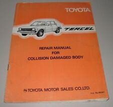 Werkstatthandbuch Repair Manual Toyota Tercel AL11 Collision Damaged Body 1979!