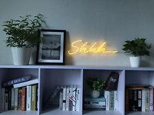 New Shhh Neon Art Sign Handmade Visual Artwork Wall Home Decor Light