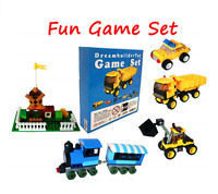 1 Lego Piece and 6 creative Game box, truck, train ,bulldozer ,car , Tot. 500 pc