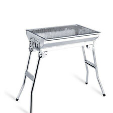 Stainless Steel Portable Folding Tall Barbecue BBQ Charcoal Grill with Lges