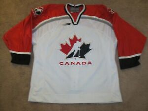 Authentic Fightstrap VTG 1998 Team Canada Olympic Hockey Jersey-Adult 52-Bauer