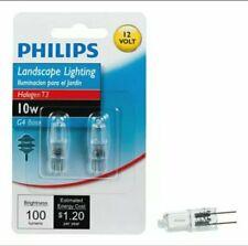 Philips Halogen Landscape Lighting T3 12-Volt Light Bulb: 3000-Kelvin, 10-Watt,