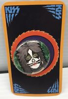 RARE KISS PETER CRISS CAT LIMITED EDITION BUTTON ROUND METAL PIN