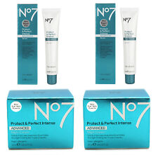 No7 Protect & Perfect Intense Advanced 50ml Serum x2 and 50ml Night Cream x2