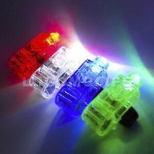 10X LED Finger Light Up Ring Laser Rave Dance Party Favors Glow Beams Torch UK