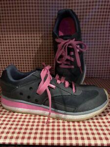 CROCS Womens Black Lace Up Tennis Shoes Size 7.5