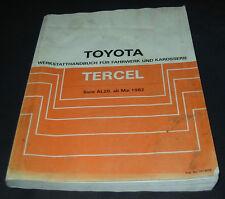 Werkstatthandbuch Toyota Tercel Typ AL20 / AL 20 Mai 1982 Reparaturanleitung!