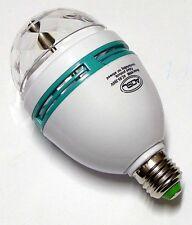 LED DJ Rotating Stage Crystal Lamp/Disco Bulb Light RGB E27 Magic Ball Party GE