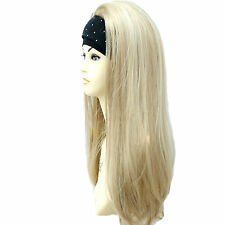 3/4 Wig Half Wig 2 Tone French Vanilla Light Blonde Subtle Mix. Premium Vogue UK