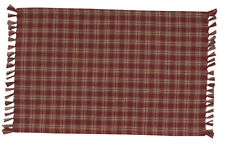 Placemat - Sturbridge in Wine by Park Designs - Kitchen Dining Burgundy Tan