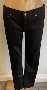 Saint Laurent Black Straight Leg Jeans Size 31