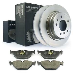 Brake Discs 300mm Full + Brake Pads Rear BMW 5 5er E34 Touring 518-530i M5
