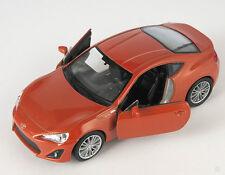 BLITZ VERSAND Toyota 86 orange mett. Welly Modell Auto 1:34-39 NEU & OVP