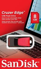Sandisk CRUZER Edge 8GB USB 2.0 Flash Pen Drive 8 GB SDCZ51-008G-B35 Retail