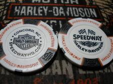 Harley White Black & Orange Poker Chip Speedway Harley Davidson Concord, NC