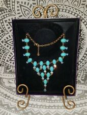 Suzanne Somers Collection Faux Turquoise & Blue Crystals Statement Necklace