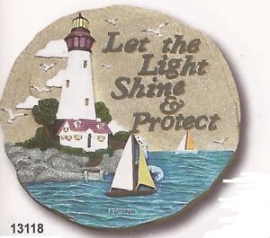 Lighthouse Resin Stepping Stone Hanging Wall Plaque, NIB [13118] OoP Spoontiques