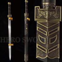 Handmade T1095 high carbon steel RU YI Han Jian Double Groove Chinese sword