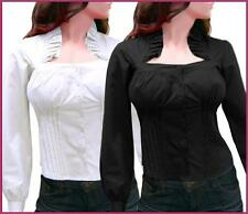 Ruffles Collar Long Sleeve Blouse Shirt Top AU Sizes S M L XL 2XL 3XL 4XL