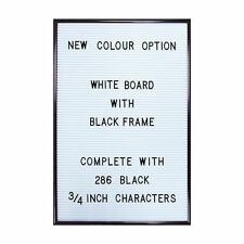 Peg Letter Board White Magnetic Letter Board Changeable Message Vintage Large A3