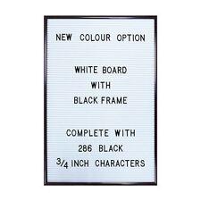Tablero de clavija Carta Blanco Magnético carta Board Cambiable mensaje Vintage Grande A3