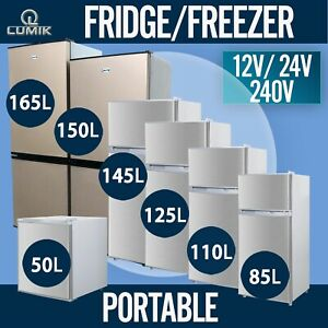 50L 85L 110L 125L 145L 150L 165L Portable Fridge Freezer 12V/24V/240V Bar Shed