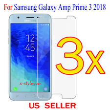 3x Clear Screen Protector Guard Cover Film For Samsung Galaxy Amp Prime 3 (2018)