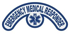 Emergency Medical Responder Extended Helmet Crescent Decal with Star of Life