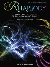 """""""Rhapsody"""" Music Book-7 Great Recital Solos for the Advancing Pianist-Brand New!"""