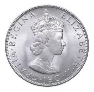 SILVER - WORLD COIN - 1964 Bermuda 1 Crown - World Silver Coin *957
