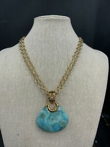 Barse Gallo Enhancer Necklace- Turquoise & Bronze- NWT