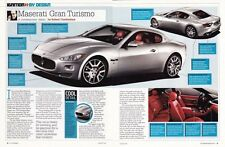 2007 MASERATI GRAN TURISMO ~ GREAT 2-PAGE ARTICLE / AD