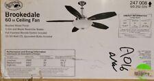 Hampton Bay Brookedale 60 in. Indoor Brushed Nickel Ceiling Fan (47,54)