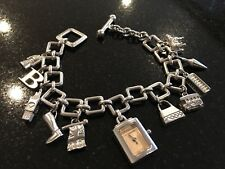 Ladies Burberry Watch Charm Bracelet London Edition Collector Box/Papers REDUCED