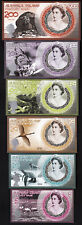 Aldabra Island 6 PCS SET , 5 10 20 50 100 200 $ , UNC, 2019, NEW DESIGN, POLYMER